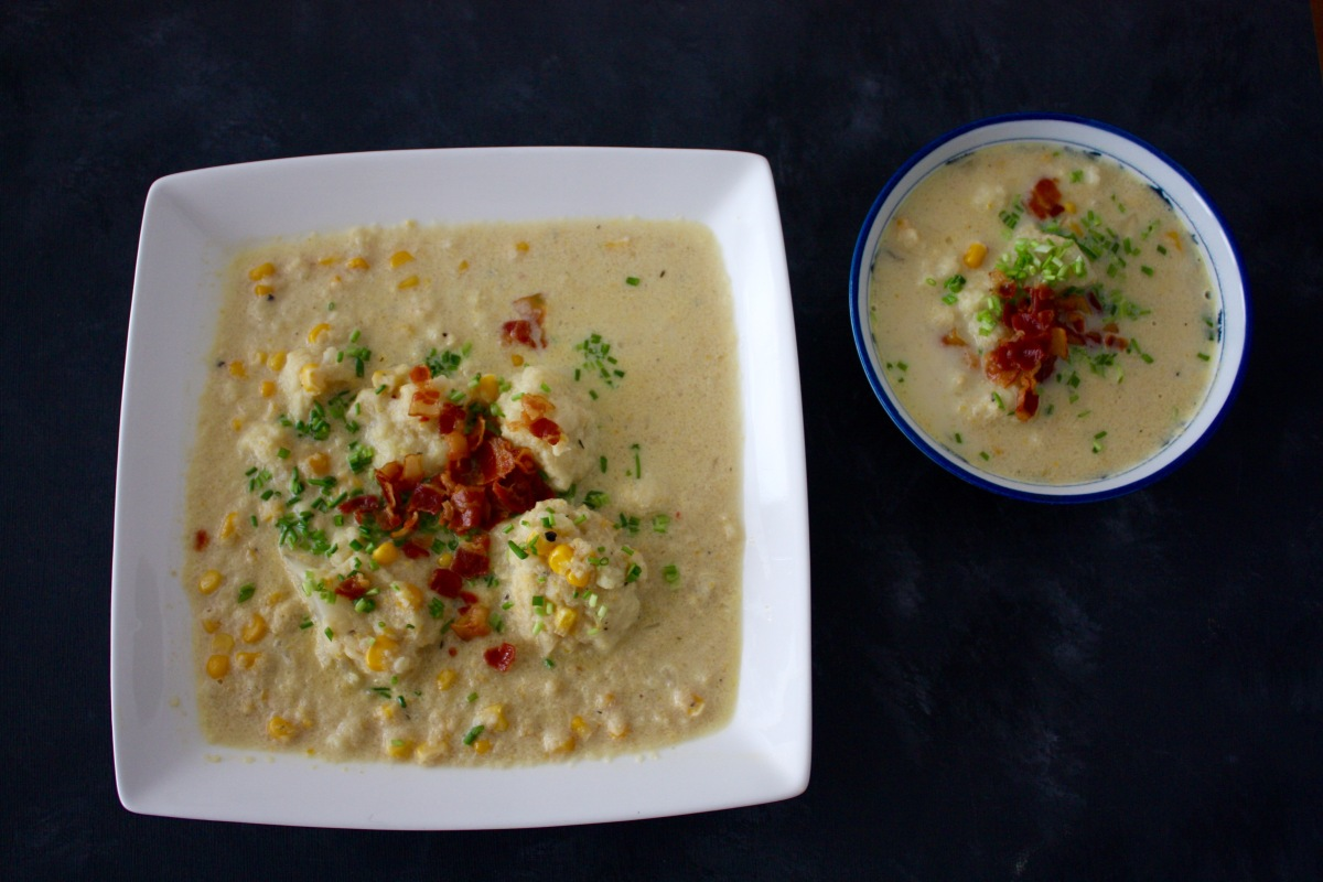 Cauliflower Corn Chowder – My Cheeky Kitchen