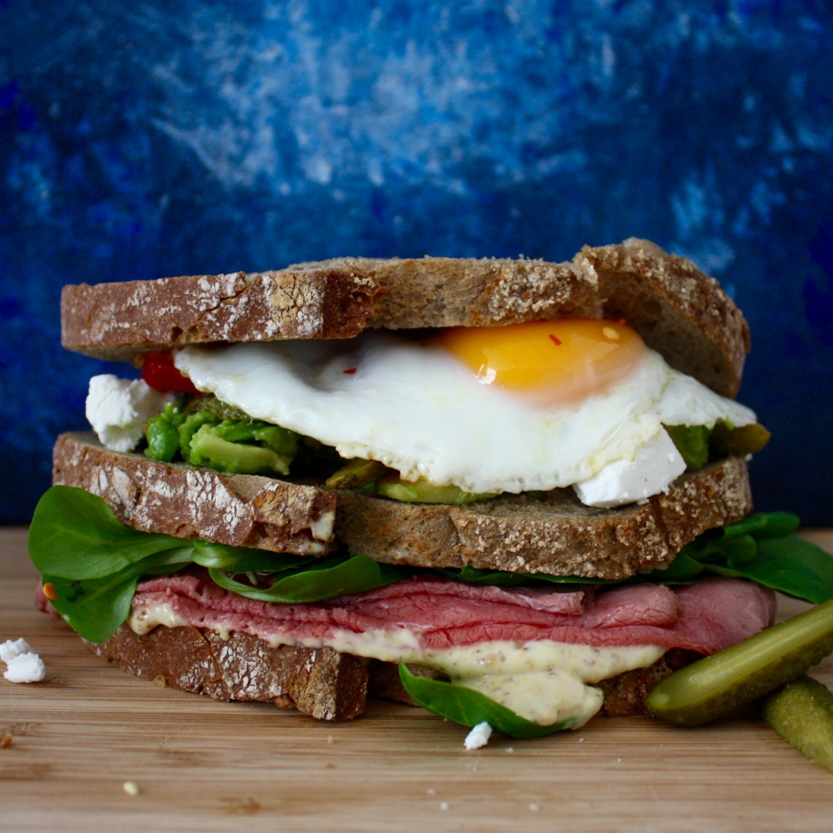 Avocado And Egg Sandwich With Tillamook Cheddar On Whole ...